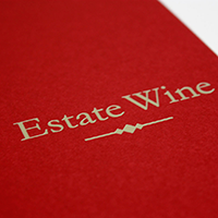 Estate wine様